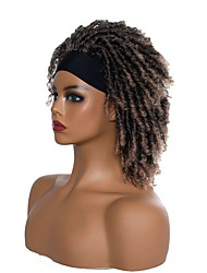 cheap -foreign trade african small curly wig headgear african tube curved hollow curly small dirty braid wig chemical fiber headgear