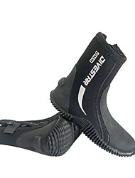cheap -DIVESTAR Neoprene Boots Water Shoes 5mm Neoprene Anti-Slip Diving Surfing Snorkeling - for Adults