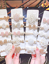 cheap -net red pearl hair clip new beaded word clip girl bangs clip bow side clip korean clip headdress female