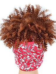 cheap -european and american style headscarf wig headgear source black gradient dark brown explosive hair with wig headscarf wig cap