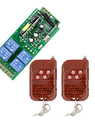 cheap -AC85V 110V 220V 230V 4CH wireless RF remote control switch /Learning code receiver /10A relay /output with power/use for Lamp  433mhz