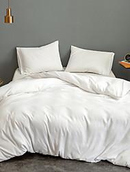 cheap -Home Bedding Duvet Cover Sets Soft Microfiber For Kids Teens Adults Bedroom Plain/Solid 1 Duvet Cover + 1/2 Pillowcase Shams