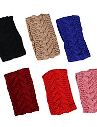 cheap -new solid color knitted wool empty top hat headband hairband to keep warm in autumn and winter temperament hairband headwear women