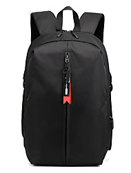 cheap -Men's Oxford Cloth Commuter Backpack Large Capacity Lightweight Zipper Traveling Black Red