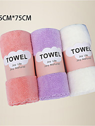 cheap -LITB Basic Bathroom Soft Coral Fleece Hand Towels Comfortable Daily Home Wash Towels 3 pcs in 1 set 35*75cm*3 in Random Colors