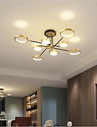 cheap -LED Ceiling Light Dimmable Light Modern Black Gold Circle Design 75 cm Flush Mount Lights Aluminum LED Nordic Style 220-240V