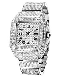 cheap -missfox european and american gold high-end gypsophila diamond square men's watch fashion quartz watch factory direct sales