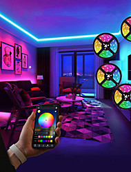 cheap -LED Strip Lights 20M RGB Tiktok Lights Not-Waterproof SMD 5050 10mm 600LEDs Rope Lighting Color Changing Full Kit with 44-keys IR Remote Controller LED Lighting Strips for Home Kitchen Indoor Decorati
