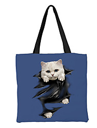 cheap -Unisex Bags Canvas Top Handle Bag Zipper Animal Daily Outdoor Canvas Bag Handbags Blue Yellow Army Green Dusty Rose