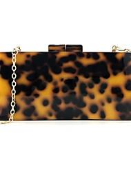 cheap -Women's Bags Acrylic Evening Bag Zipper Leopard Print Plain Wedding Party Going out Evening Bag Handbags MessengerBag Yellow