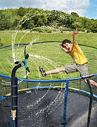 cheap -Trampoline Sprinkler for Kids, Outdoor Water Park Rotate Sprinkler, Trampoline WaterWhirl Spray Hose, Fun Summer Backyard Water Game Toys for Boys and Girls (Black/Blue)