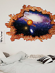 cheap -3D Broken Wall Galaxy Sky Universe Home Background Decoration Can Be removed Wall Stickers