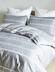 cheap -Duvet Cover set with Zipper Closure with White Geometric Triangle Bohemian Pattern Printed, Ultra Soft Comfortable Breathable Durable