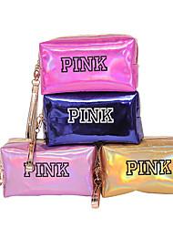 cheap -Waterproof Pu Laser Cosmetic Bag Korean Female Portable Multifunctional Large-Capacity Storage Bag