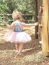 cheap -foreign trade european and american children's clothing amazon summer girls skirt ins denim dress vest skirt princess mesh skirt