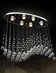cheap -Modern Crystal Chandelier Ceiling Light Luxury For Living Oval Luxury Gold Round Stainless Steel Line Chandeliers Lighting Ceiling Pendant Lights