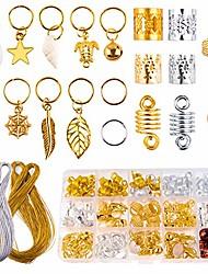 cheap -230 pcs aluminum hair coil with box hair rings hair braid rings with metallic cord