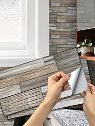 cheap -Imitation Wood Grain Ceramic Tile Kitchen Bathroom Self-adhesive Paper Waterproof And Putty-proof Daisy Wood Grain Flaky Self-adhesive Decorative Wall Sticker