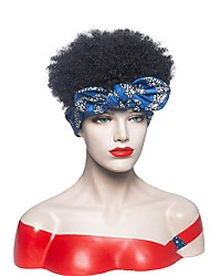 cheap -european and american hair band female bowknot bandana wig black small curly headgear manufacturers spot wholesale