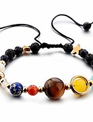cheap -planet bracelet solar system universe galaxy bracelet handmade natural stone bead bracelet string adjustable astronomy gifts