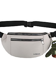 cheap -Women's Unisex Bags Fanny Pack Daily 2021 Bum Bag Black Light Gray