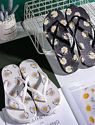 cheap -2021 Summer Fashion Daisy Flip Flops Soft Bottom Non-Slip Clip Feet Beach Net Red Ins Women Slippers Factory Wholesale