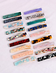 cheap -european and american fashion acetate board hairpin side clip set acrylic resin hair accessories three-piece cross-border supply