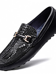 cheap -Men's Loafers & Slip-Ons Leather Shoes Tassel Loafers Dress Loafers Business Casual Classic Daily Party & Evening Nappa Leather Cowhide Non-slipping Wear Proof Booties / Ankle Boots Black Spring
