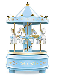 cheap -Music Box Carousel Music Box 1 pcs Gift Music & Light Color Changing Resin For Kid's Adults' Boys and Girls