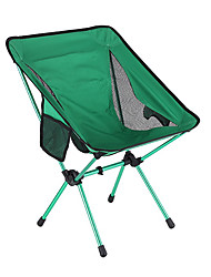 cheap -Camping Chair with Side Pocket Multifunctional Portable Breathable Ultra Light (UL) Aluminum Alloy for 1 person Fishing Beach Camping Traveling Autumn / Fall Winter Green