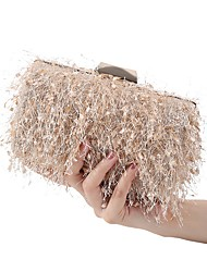 cheap -Women's Bags Polyester Evening Bag Tassel Solid Color Party Wedding Event / Party Wedding Bags Handbags Black Almond Blushing Pink Gray
