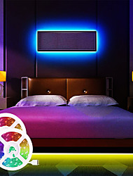 cheap -LED Strip Lights Music Synchronous Waterproof 65ft 2x10 Meter Happy Multicolour Light Strip 5050 RGB LED Flexible Strip Light with 20 key IR Controller Optional with Adapter Kit DC12V