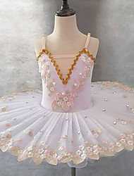 cheap -Ballet Tutu Dress Dress Lace Printing Embroidery Girls' Training Performance Sleeveless High Elastane Lace Tulle