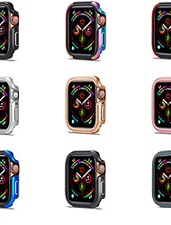 cheap -Cases For Apple iWatch Apple Watch Series 7 / SE / 6/5/4/3/2/1 / Apple Watch Series 6 / SE / 5/4 44mm / Apple Watch Series  6 / SE / 5/4 40mm TPU / Alloy Screen Protector Smart Watch Case