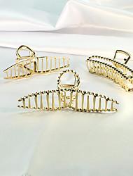 cheap -alloy fish tail catch clip butterfly hair clip cross hollow shark back head plate hair korean geometric square hair accessories