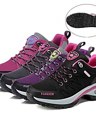 cheap -Women's Hiking Shoes Sneakers Hiking Boots Anti-Slip Shock Absorption Wearable Breathable Hiking Outdoor Exercise Running Fall & Winter Dark Grey Violet Black Rose Red