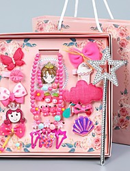 cheap -Kids / Baby Girls'  Hair Accessories  Version Of The Princess Head Accessories Girl Hairpin 28-Piece Set Of Children's Hairpin Gift Box Set