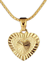cheap -Women's Pendant Necklace Charm Necklace Heart Precious Fashion 18K Gold Plated Zircon Alloy Gold 45 cm Necklace Jewelry 1pc For Christmas Party Evening Street Gift Engagement