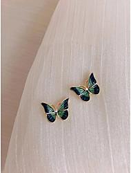 cheap -Women's Stud Earrings Earrings Fashion Vintage Sweet Earrings Jewelry Green For Prom Date Birthday 1 Pair