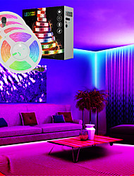 cheap -4x5M Light Sets 600 LEDs 5050 SMD 10mm 1x 1 To 4 Cable Connector 1Set Mounting Bracket 1 DC Cables 1 set RGB Multi Color Waterproof APP Control Party 12 V