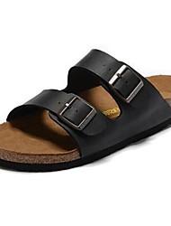 cheap -Women's Flats Flat Heel Round Toe PU Solid Colored Dark Brown White Black