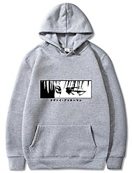 cheap -men's scouting legion hoodie with levi eren print from attack on titan (aschwarz15859, l)