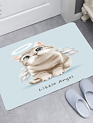 cheap -Angel Kitten Digital Printing Floor Mat Modern Bath Mats Nonwoven / Memory Foam Novelty Bathroom