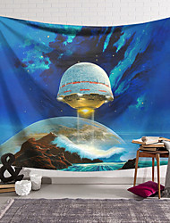 cheap -Wall Tapestry Art Decor Blanket Curtain Hanging Home Bedroom Living Room Decoration Polyester Space Ship