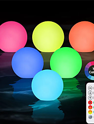 cheap -Underwater Light for Swimming Pool Outdoor Activity 8cm LED Colorful Ball For Yard Pond Garden Lawn Decoration Colorful Lighting Swimming Pool Floating Disco Lamp IP68 with Remote Controller