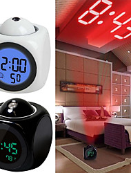 cheap -Digital Alarm Clock LED Projector Temperature Thermometer Desk Time Date Display Projection Calendar USB Charger Table Clock