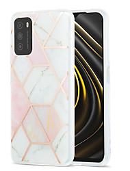 cheap -Phone Case For Xiaomi Back Cover Xiaomi Poco X3 NFC Mi 10T 5G Redmi Note 9 Pro Redmi Note 9 Pro Max Redmi 9A Mi 10T Lite 5G Shockproof Dustproof Plating Geometric Pattern Marble TPU