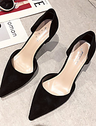 cheap -Women's Heels Pumps PU Solid Colored Almond Black