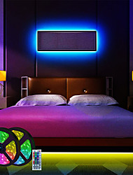 cheap -LED Strip Lights RGB APP Smart Set 2x5M 2x7.5M Light Strips Lights Tiktok 180 LEDs 5050 SMD with 44Keys Remote Controller Mounting Bracket Cable Connector Set for Bedroom Christmas New Year Decorating