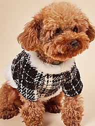 cheap -Dog Dog clothes Vintage Vintage Birthday Festival Winter Dog Clothes Puppy Clothes Dog Outfits Warm Black / White Costume for Girl and Boy Dog Polyester Cotton XXS M